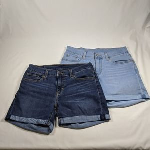 Levi's Cuffed Denim Shorts Bundle